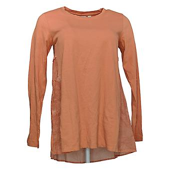 LOGO By Lori Goldstein Women's Top (XXS) Long Sleeve Knit Pink A351325