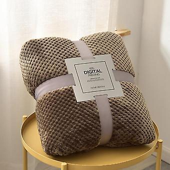 Grande couverture épaisse de sofa de toison