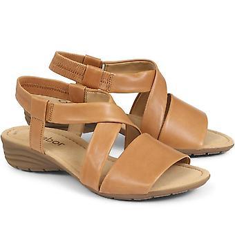 Gabor mujeres alférez sandalia de cuero casual