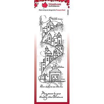 Woodware Clear Singles Peaceful Night 8 in x 2.6 in Stamp