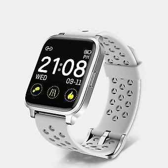Smart Watch til Unisex, Fitness Tracker Watch med pulsmåler iltmåler i blodet, IP68 Svømning Vandtæt Smart watch Kompatibel med iPhone Android Phones DIY Ur Ansigter-hvid