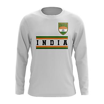 India Core Football Country Long Sleeve T-Shirt (White)