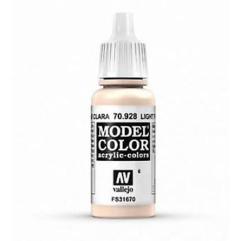 Vallejo Model Color 17ml Acrylic Paint - 928 Light Flesh