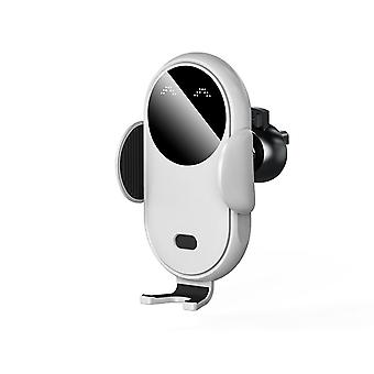 Wireless car charger auto-clamping air vent phone holder