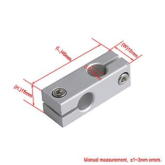 10mm Dia Double Hole Cross Linear Shaft Support Connectors Support