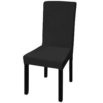 vidaXL كرسي Hussen 6 جهاز كمبيوتر شخصى. أسود مستقيم Stretchable