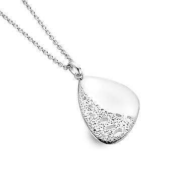 Sterling Silver Hänge Halsband - Ursprung Texturerad Sten