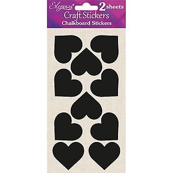 Oaktree UK Ltd - Chalkboard Stickers - Hearts