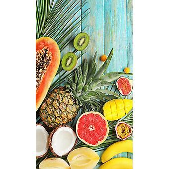 strandduk Färsk frukt 100 x 180 cm sammet
