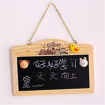 Wooden Blackboard, Magnetic Chalkboard, Wall Hanging Decor, Message Shop