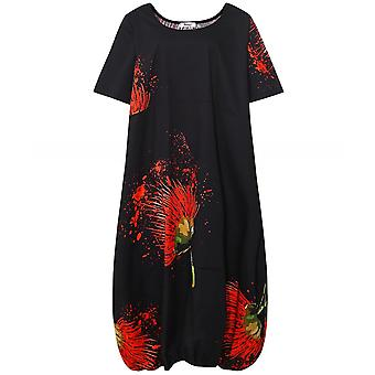 Thanny Linen Oversized Floral Dress
