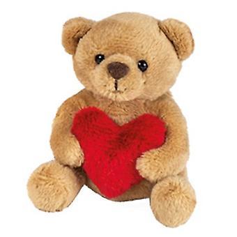 Hermann Teddy beer met hart 9.5  cm