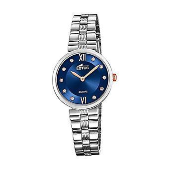 Lotus analoge horloge quartz vrouw met roestvrij staal band 18541/4