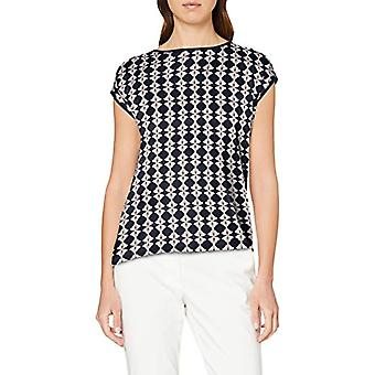 Betty Barclay Sophie 1 T-Shirt, Multicolor (Dark Blue/Cream 8813), 48 (Size Manufacturer: 42) Woman