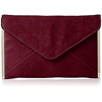 SwankySwans Louis - Women's suede clutch bags, with envelope, for parties and dances, Red (burgundy)), One size