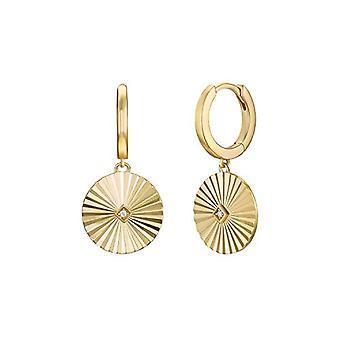 NOELANI Sunrays - Women's hoop earrings, in gold-plated sterling 925 silver