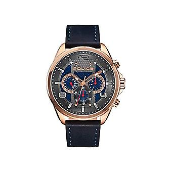 Police Analogueic Watch Unisex Adult Quartz with Leather Strap PL15658JSR.03(2)