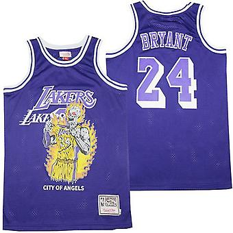 Men's Lakers James #23 Bryant #24 Basketball Jersey S-xxl,fashion 90s Hip Hop Clothing For Party, Stitched Letters And Numbers
