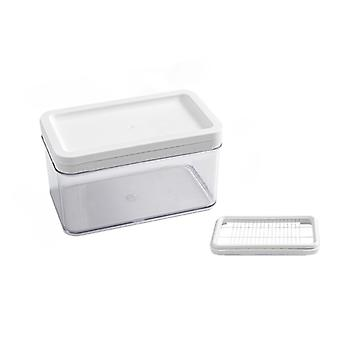 Stainless Steel Butter Cutter Container Plate Butter Cheese Fresh Box