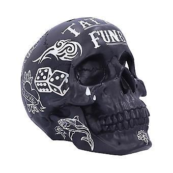 Fondo de tatuaje (Negro) Cráneo