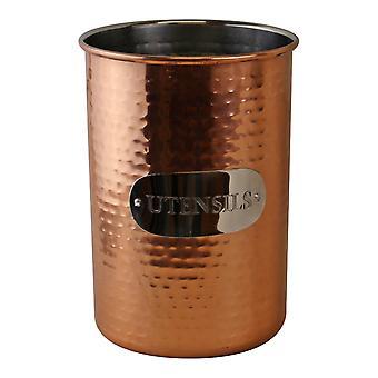Gehämmert Kupfer Utensil Halter
