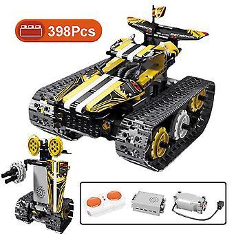 Technical series 398pcs rc speed car model building blocks city mechanical 3in1 cross dressing robot bricks toys boys adult gift