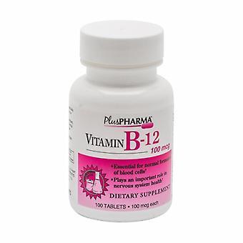 Plus Pharma Vitamin B-12, 100Mcg, 100 Tabs