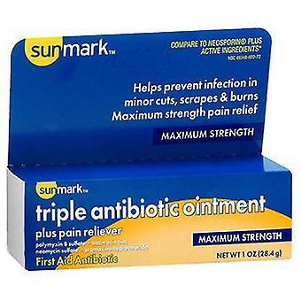 Sunmark Sunmark Triple Antibiotic Ointment Plus Pain Reliever, 1 Oz
