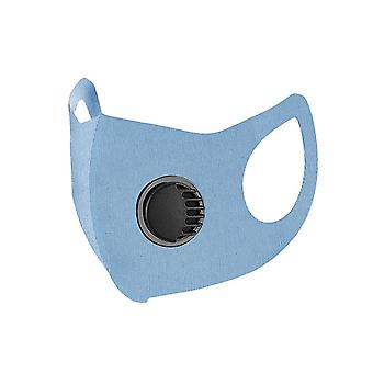 Blue  washable dustproof sunscreen ice silk breathing valve mask homi2110