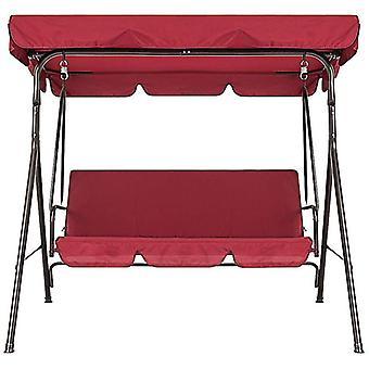 Garden Swing Chair Covers 2 Piece Set - Dustproof 3-seater Cover (red)