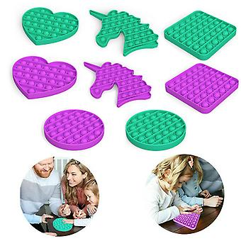 Lohill Extrusion Bubble Pop Its Fidget Sensory Toy Stress Reliever Anxiety Relief Toys, Green