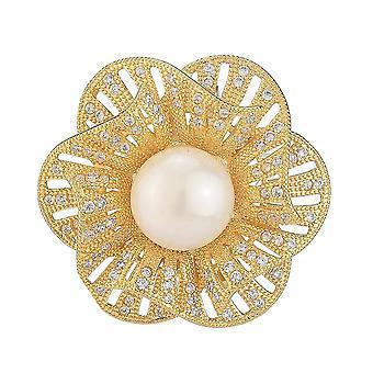 Antiglare Brosche Pin Blume Corsage Diamant eingelegte Legierung Damen Brosche