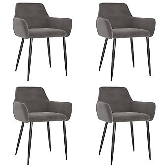 vidaXL dining chairs 4 pcs. Dark grey velvet