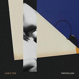 Cable Ties – Far Enough Limited Edition Amber & Black Swirl Vinyl