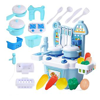 1 Set Of 20pcs Mini Kitchen Toy Set Cartoon Playing House Cooking Toy Kit Funny Role Play Dining Table Toy Set Educational Simulated Kitchen Toy Set F