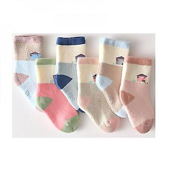 Smart And Cosy 5 Pairs Baby Non Slip Winter Socks(L)