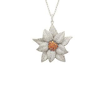 Daisy Flower Necklace Silver