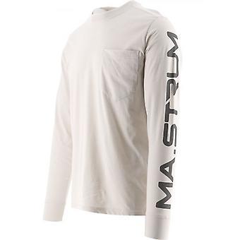 MA.STRUM Off-White Long Sleeve Print T-Shirt