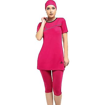 Half Sleeve Embroideried Semi Burkini- Muslim Swimwear
