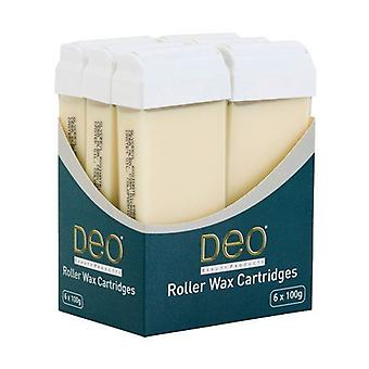 DEO Roller Wax Cartridge Lotions for Waxing - Natural CrГЁme - 100 ml - Pack of 6