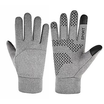 Veterné lyžiarske cyklistické rukavice Dotyková obrazovka Tepelné rukavice Plné prsty Rukavice