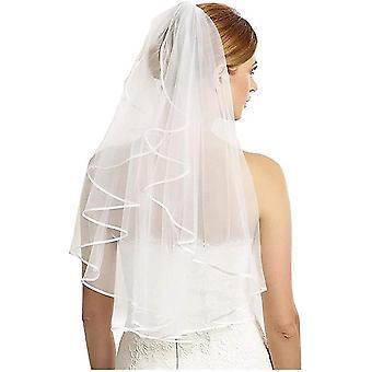 Bridal Veil Women's Simple Tulle Korte Vrijgezellenfeest Bruiloft