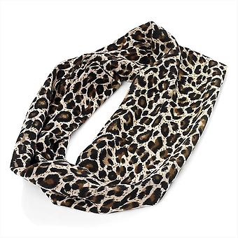 Brown Animal Leopard Print Headband Stretch Elasticated Bandeaux 8cm wide
