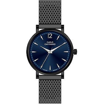 Carlo Cantinaro Black Stainless Steel CC1003GM011 Men's Watch