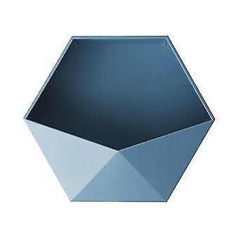 Estantes de pared hexagonales geométricos sin punzón de estilo nórdico (azul)