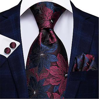 Cravatta italiana hi-tie 100% set cravatta da uomo in seta, 8,5 cm (C-3125)