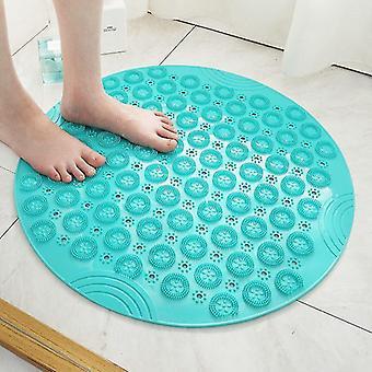 Skandinaavinen tyyli ympäristöystävällinen 55cm liukumaton ja hierova kylpyhuone suihku turvamatto (55x55 Vihreä)