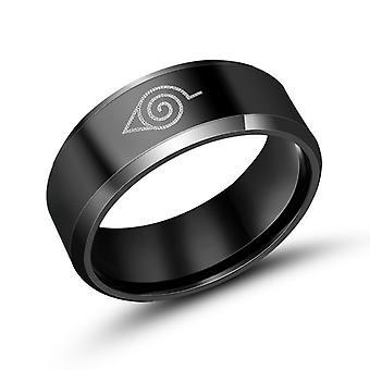 Japanse mode persoonlijkheid mannen titanium stalen ringen Naruto afvegen voorhoofd ring Sa607