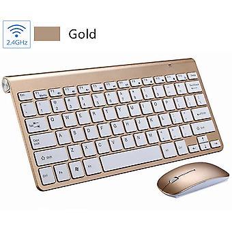 2,4 g langatonta multimediapelinäppäimistöä ja hiiren mykistysyhdistelmää PC-kannettavalle tietokoneelle