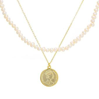 Korean Style Avatar Necklace Female Personality Round Coin Pendant  Chain  Necklaces